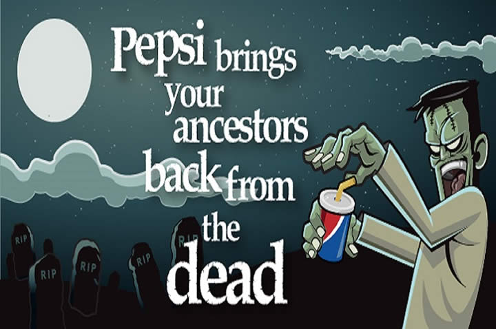 Pepsi brings your ancestors back from the dead